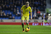 Leeds United defender, Charlie Taylor (21) during the Sky Bet Championship match between Brighton and Hove Albion and Leeds United at the American Express Community Stadium, Brighton and Hove, England on 29 February 2016. Photo by Phil Duncan.