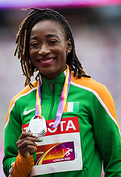 07-08-2017 IAAF World Championships Athletics day 4, London<br /> zilver voor Marie-Josee Ta Lou CIV op de 100 meter