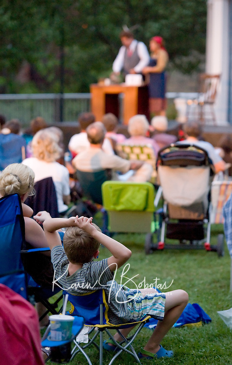 "The Streetcar Company presents ""Theatre in the Park"" at Rotary Riverside Park August 10, 2010.  Karen Bobotas/for the Laconia Daily Sun"