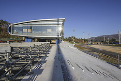 October 30, 2017 - Pyeongchang, Gangwon, South Korea - Oct 30, 2017-Pyeongchang, South Korea-A Shows Construction continues at the Alpensia Cross Country Skiing Centre, venue for Cross County and Nordic Combined skiing for the PyeongChang 2018 Winter Olympic Games on October 30, 2017 in Pyeongchang, South Korea. (Credit Image: © Ryu Seung Il via ZUMA Wire)