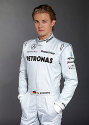 STUTTGART, GERMANY - Sunday, January 24, 2010: Driver Nico Rosberg during the Mercedes GP Petronas Formula One Team presentation at the Mercedes-Benz Museum. (Pic by Juergen Tap/Hoch Zwei/Propaganda)