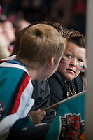 KELOWNA, CANADA - SEPTEMBER 28:  Rockets fans  at the Kelowna Rockets on September 28, 2013 at Prospera Place in Kelowna, British Columbia, Canada (Photo by Marissa Baecker/Shoot the Breeze) *** Local Caption ***