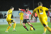 Lee Holmes during the Sky Bet League 2 match between Exeter City and Bristol Rovers at St James' Park, Exeter, England on 28 November 2015. Photo by Graham Hunt.