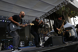 LONG BEACH, CA - APRIL 13  Hip Hop, Latin, and  rock band Otzomatli performs onstage during the 2018 Toyota Grand Prix of Long Beach. 2018 April 13.  Byline, credit, TV usage, web usage or linkback must read SILVEXPHOTO.COM. Failure to byline correctly will incur double the agreed fee. Tel: +1 714 504 6870.