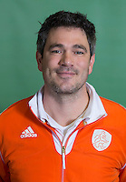 DELFT - Assistent bondscoach Jisse Waasdorp.  Nederlands zaalhockeyteam dames voor EK in Minsk. COPYRIGHT KOEN SUYK