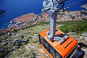 Dubrovnik Cable Car, a 4-minute ride transports visitors 778 meters to a plateau offering Old City views & a restaurant.