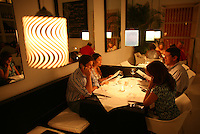 Customers prepare to order a meal at Palma, a popular restaurant in Cartagena's old city, on Thursday, August 21, 2008. (Photo/Scott Dalton)