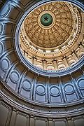 Texas State Capital interior dome in Austin.