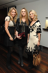 Left to right, STEPHANIE COATEN, BRYONY DANIELS and ISABELLE COATEN at a Valentine's Party in aid of Chickenshed held at De Beers, 50 Old Bond Street, London W1 on 6th Fbruary 2008.<br />