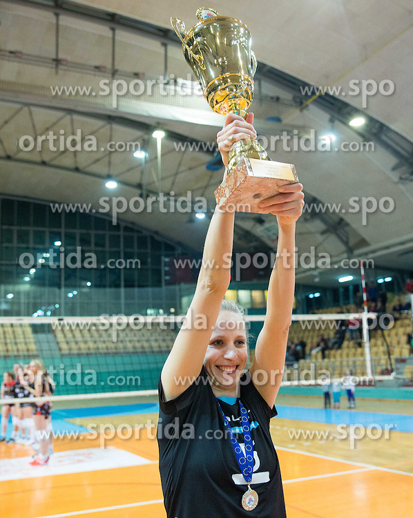 Tamara Borko of OK Calcit Volley afar the final match of MEVZA League 2014/15 against Nova KBM Branik Maribor when they placed second, on February 20, 2015 in Dvorana Lukna, Maribor, Slovenia. Photo by Vid Ponikvar / Sportida