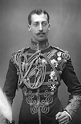 Albert Victor, Duke of Clarence (1864-1892) Eldest son of Edward, Prince of Wales (Edward VII) in military uniform. English prince, grandson of Queen Victoria. Photograph published c1890. Woodburytype