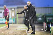 Cambridge United's manager Shaun Derry during the EFL Sky Bet League 2 match between Forest Green Rovers and Cambridge United at the New Lawn, Forest Green, United Kingdom on 20 January 2018. Photo by Shane Healey.