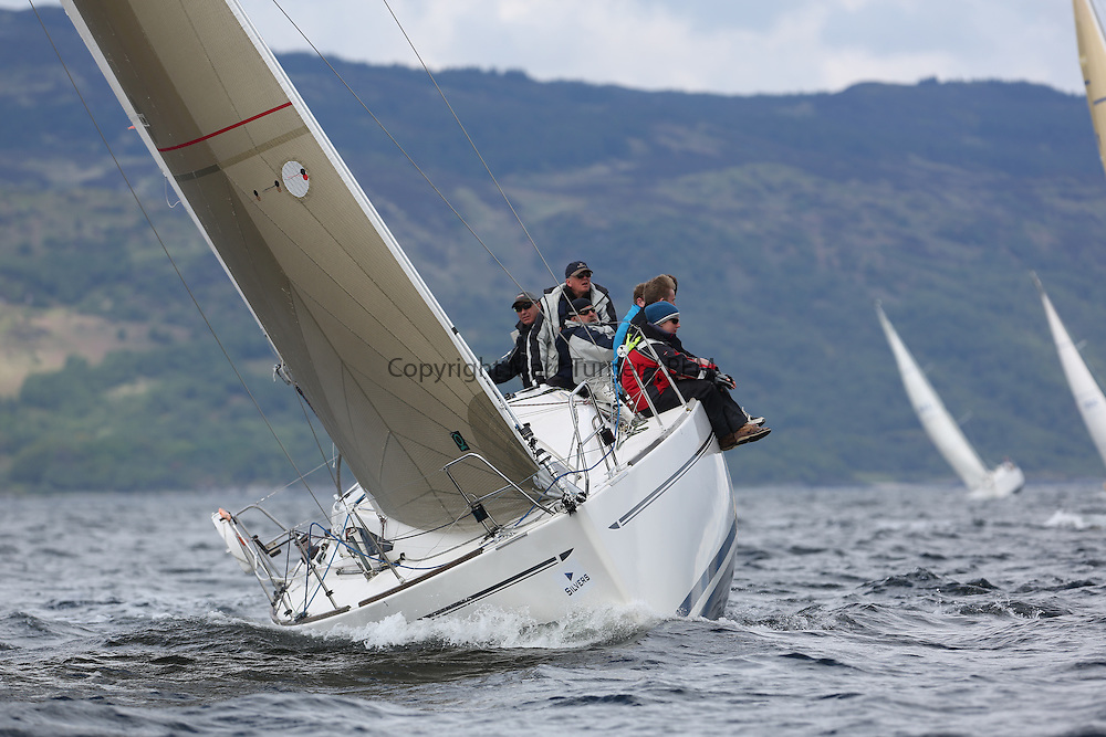 The Silvers Marine Scottish Series 2014, organised by the  Clyde Cruising Club,  celebrates it's 40th anniversary.<br /> Day 3, 3401C, Rogue Trader, James Cumming, FYC, Elan 340<br /> Racing on Loch Fyne from 23rd-26th May 2014<br /> <br /> Credit : Marc Turner / PFM