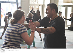 The Schoolfest programme in the New Zealand International Arts Festival gets kids and artists together to share, learn, and exchange ideas.  In this workshop, performers from the Taki Rua Theatre production, Mark Twain And Me In Maoriland, work with students on their improvised / devised theatre.