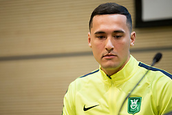 Jason Davidson at press conference of NK Olimpija before spring part season of PLTS, on February 21, 2017 in Austria Trend Hotel, Ljubljana, Slovenia. Photo by Urban Urbanc / Sportida