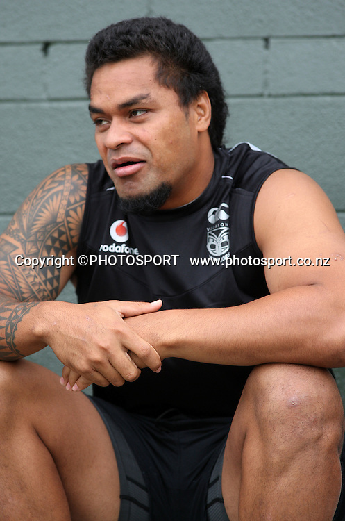 Epalahame Lauaki. Warriors training session at Ellerslie Domain, Auckland. Friday 30 January 2009. Photo: Andrew Cornaga/PHOTOSPORT