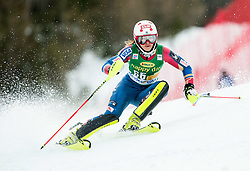 "Lila Lapanja (USA) in action during 1st Run of the FIS Alpine Ski World Cup 2017/18 7th Ladies' Slalom race named ""Golden Fox 2018"", on January 7, 2018 in Podkoren, Kranjska Gora, Slovenia. Photo by Ziga Zupan / Sportida"