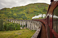 The Glenfinnan Viaduct is more than familiar to any Harry Potter enthusiast. Located on the West Highland Line in Glenfinnan, Highland, Scotland, the railway 21-arched viaduct was built between July 1897 and October 1898, entirely of concrete, and it's iconic horseshoe curve is now famous worldwide. Described as one of the great railway journeys of the world, the 84 mile (135 km) round trip starts departing from Fort William. The Glenfinnan Viaduct has been used as a location in Harry Potter and the Philosopher's Stone, Harry Potter and the Chamber of Secrets, Harry Potter and the Prisoner of Azkaban and Harry Potter and the Goblet of Fire.