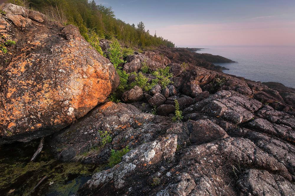 A fog over Lake Superior at dawn<br /> Marquette, Michigan