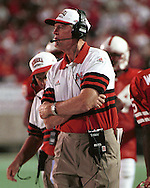 Nebraska head coach Tom Osborne during game action against Kansas State at Memorial Stadium in Lincoln, Nebraska in 1995.