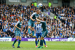 Jake Buxton of Wigan Athletic heads the ball clear - Mandatory by-line: Jason Brown/JMP - 17/04/2017 - FOOTBALL - Amex Stadium - Brighton, England - Brighton and Hove Albion v Wigan Athletic - Sky Bet Championship