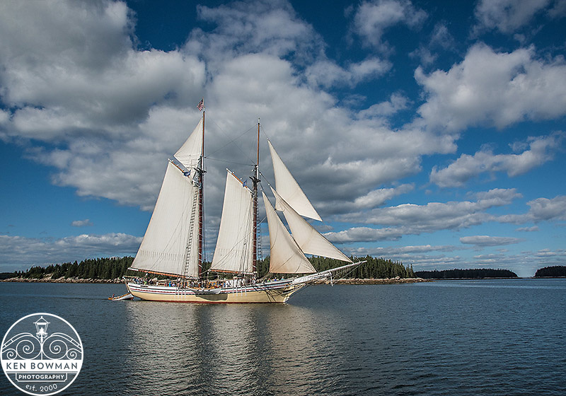 Heritage Maine Windjammer under sail.