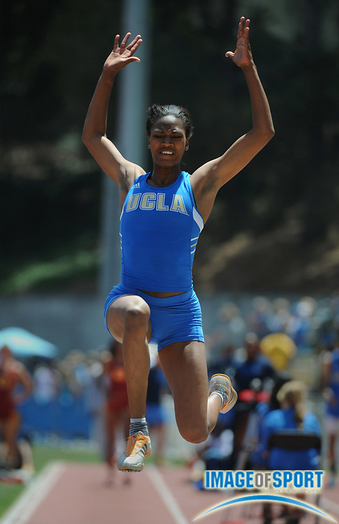 May 3, 2008; Los Angeles, CA, USA: Danialle Watson of UCLA was fourth in the women's long jump at 20-10 (6.35m) in dual meet against Southern California at Drake Stadium.