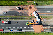 12 Tons Of Liquid Milk Chocolate Spill Onto Highway - 10 May 2018