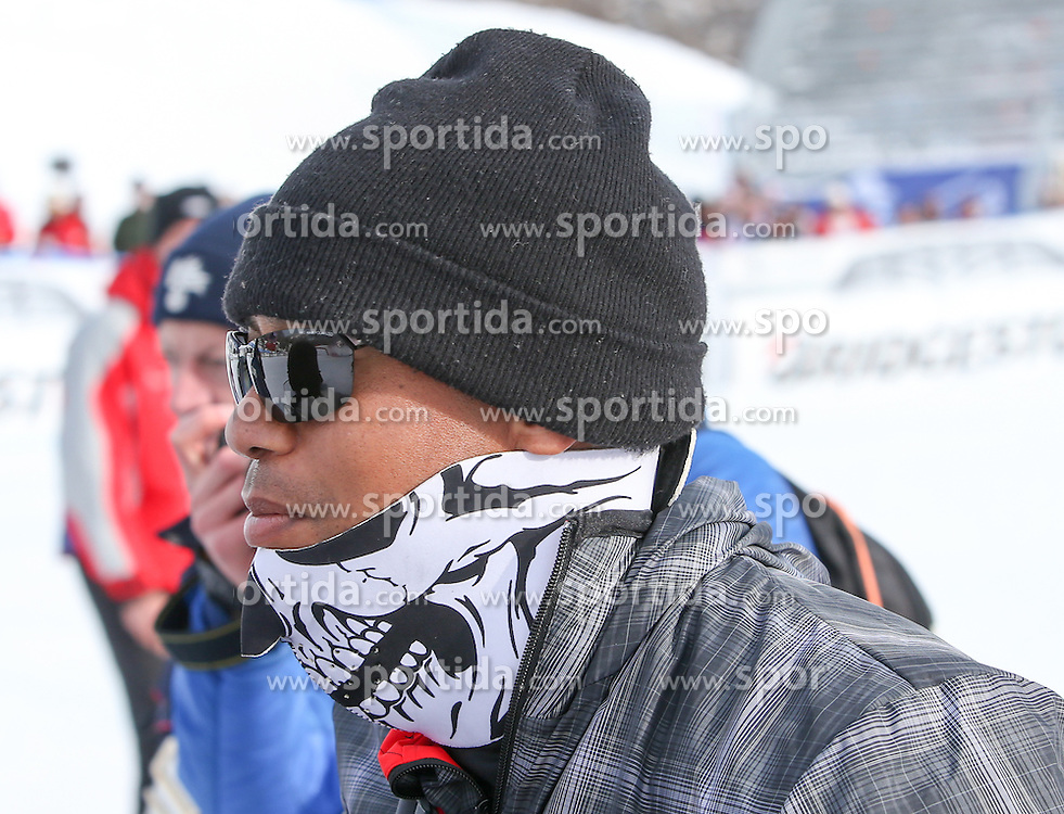 19.01.2015, Olympia delle Tofane, Cortina d Ampezzo, ITA, FIS Weltcup Ski Alpin, Super G, Damen, im Bild Tiger Woods // American golfer Tiger Woods during the ladies SuperG of the Cortina FIS Ski Alpine World Cup at the Olympia delle Tofane course in Cortina d Ampezzo, Italy on 2015/01/19. EXPA Pictures © 2015, PhotoCredit: EXPA/ Johann Groder