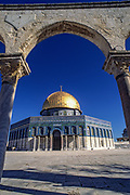 Israel, Jerusalem Old City, Dome of the Rock on Haram esh Sharif (Temple Mount)