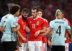 Wales players Gareth Bale, Joe Ledley, Ashley Williams  and James Chester  set up for a set piece  - Mandatory by-line: Joe Meredith/JMP - 01/07/2016 - FOOTBALL - Stade Pierre Mauroy - Lille, France - Wales v Belgium - UEFA European Championship quarter final