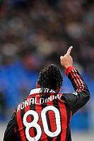 """RONALDINHO Milan<br /> Roma 8/11/2009 Stadio """"Olimpico""""<br /> Lazio Milan 1-2<br /> Campionato Italiano Serie A 2009/2010<br /> Foto Andrea Staccioli Insidefoto"""