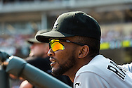 Alexei Ramirez #10 of the Chicago White Sox looks on prior to a game against the Minnesota Twins on September 16, 2012 at Target Field in Minneapolis, Minnesota.  The White Sox defeated the Twins 9 to 2.  Photo: Ben Krause