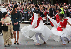 Duchess of Cambridge with dancers in Leicester