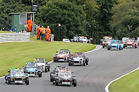#29 William Lloyd Caterham Roadsport and #44 Guy Hawkins Caterham Roadsport during the Avon Tyres Caterham Roadsport Championship at Oulton Park, Little Budworth, Cheshire, United Kingdom. August 13 2016. World Copyright Peter Taylor/PSP.