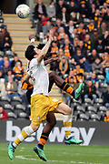 Sheffield Wednesday forward Fernando Forestieri (45) battles for possession  during the EFL Sky Bet Championship match between Hull City and Sheffield Wednesday at the KCOM Stadium, Kingston upon Hull, England on 14 April 2018. Picture by Mick Atkins.