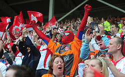 Hull KR fans in the stands during the engage Super League match at the KC Stadium, Hull.