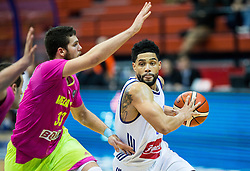 Djordje Simeunovic of Mega Leks vs Scottie Reynolds of Cibona during basketball match between KK Cibona Zagreb and KK Mega Leks (SRB) in 9th Round of FIBA Champions League 2016/17, on December 13, 2016 in Drazen Petrovic Basketball Center, Zagreb, Croatia. Photo by Vid Ponikvar / Sportida