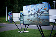 Poznan, Poland - 2018 July 26: Rowing photoexhibition during 2018 World Rowing Under 23 Championships on Malta Lake on July 26, 2018 in Poznan, Poland.<br /> <br /> Adam Nurkiewicz declares that he has no rights to the image of people at the photographs of his authorship.<br /> <br /> Picture also available in RAW (NEF) or TIFF format on special request.<br /> <br /> Any editorial, commercial or promotional use requires written permission from the author of image.<br /> <br /> Image can be used in the press when the method of use and the signature does not hurt people on the picture.<br /> <br /> Mandatory credit:<br /> Photo by &copy; Adam Nurkiewicz / Mediasport