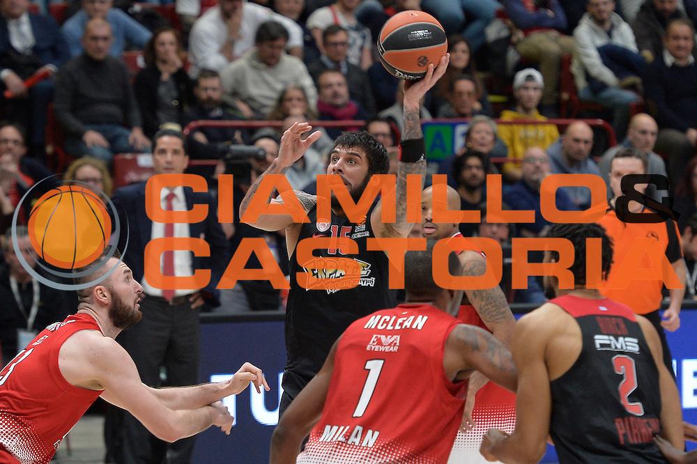 Printezis Georgios<br /> EA7 Emporio Armani Olimpia Milano - Olympiacos Piraeus<br /> Euroleague 2016/2017<br /> Milano 25/01/2017<br /> Foto Ciamillo-Castoria