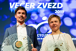 Primoz Roglic and Tanja Zakelj at the Slovenia's Cyclist of the year award ceremony by Slovenian Cycling Federation KZS, on November 26, 2019 in Ljubljana Castle, Ljubljana, Slovenia. Photo by Matic Klansek Velej / Sportida