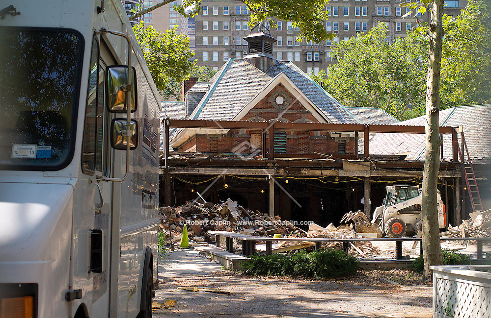 Tavern on the Green is under construction in Central Park. .. Photo by Robert Caplin
