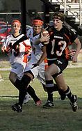 Senior Chelsea Nottoli (13) runs during the 3rd Annual Powderpuff Challenge, the junior girls (class of 2008) against the senior girls (class of 2007.)