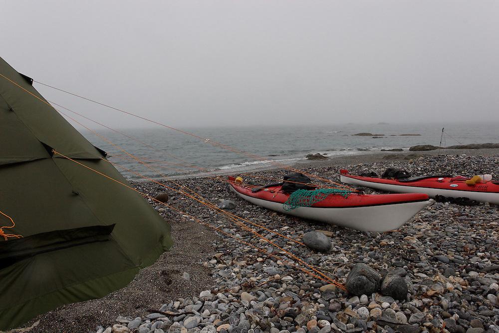 Helsport Finnmark Lavvo and Cobolt kayaks Sibir Expedition