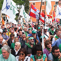 """Lega Nord rally today in Venice under the slogan """"Prima Il Nord""""  (North First)  the Lega Nord with its new Secretary Roberto Maroni are trying to go back to their  1996 meeting in Venice with its original federalist credo"""