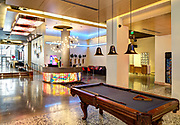 lobby of Aloft Hotel; 225 Baronne Street in downtown New Orleans, Louisiana