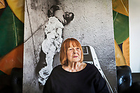 PALERMO, ITALY - 21 MARCH 2017: Italian photogtapher and photojournalist Letizia Battaglia (82) poses for a portrait in her apartment in Palermo, Italy, on March 22nd 2017.<br /> <br /> Although her photos document a wide spectrum of Sicilian life, she is best known for her work on the Mafia.<br /> <br /> In 1985 she received the W. Eugene Smith Grant in Humanistic Photography. In 1999 she received the Photography Lifetime Achievement of the Mother Jones International Fund for Documentary Photography. In 2007 she received the Erich Salomon-Preis, a 'lifetime achievement' award of the Deutschen Gesellschaft für Photographie (DGPh) and the most prestigious prize in Germany. In 2009, she was given the Cornell Capa Infinity Award by the International Center of Photography.