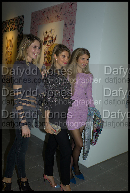 LAURA HOFMANN LIKETTE; MARIA-THERESIA PONGRACE;  CARINA MANDL, Julia Peyton-Jones, Hans Ulrich Obrist and Coach host the Serpentine Future Contemporaries Party. Serpentine Sackler Gallery. Kensington Gdns. London. 21 February 2015