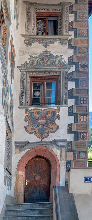 painted decorated house in Landeck, Tirol, Austria