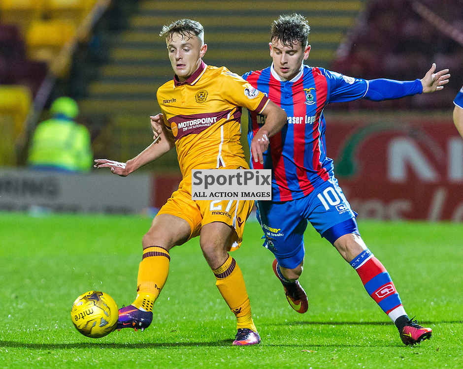 Ross MacLean and Aaron Doran in action during the match between Motherwell and Inverness Caledonia Thistle (c) ROSS EAGLESHAM | Sportpix.co.uk